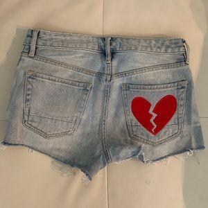Kendall & Kylie High Waisted Jean Shorts